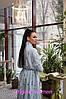 Платье макси в горошек ниже колена высокая талия с рукавом, фото 6