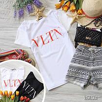 Стильная футболка с крутыми принтами брендов белая и черная, фото 2