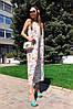 Платье сарафан на бретельках в пол свободное с цветами, фото 3