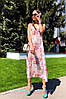 Платье сарафан на бретельках в пол свободное с цветами, фото 4