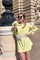 Стильне плаття сорочка з кнопками коміром і кишенею, фото 3
