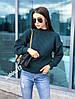 Стильный женский теплый вязаный свитер из шерсти, фото 6