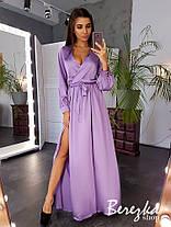 Красивое вечернее платье в пол с разрезом шелк, фото 3