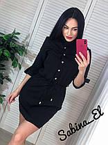 Стильное платье мини на пуговицах хит продаж 2020, фото 2