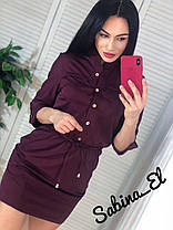 Стильное платье мини на пуговицах хит продаж 2020, фото 3