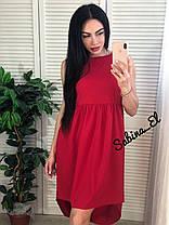 Тренд жаркого лета легкое платье из софта свободное с высокой талией сзади длинее, фото 2