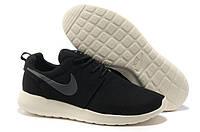 Кроссовки мужские беговые Nike Roshe Run (в стиле найк роше ран) черные