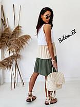 Летний легкий сарафан платье в полоску софт, фото 3