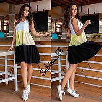 Летний легкий сарафан платье в полоску софт, фото 2