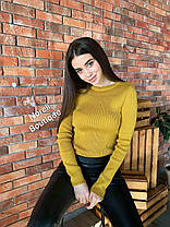 Стильний светр гольф без горла довгий рукав, фото 3