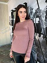 Стильный свитер гольф без горла длинный рукав, фото 2