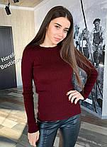 Стильный свитер гольф без горла длинный рукав, фото 3