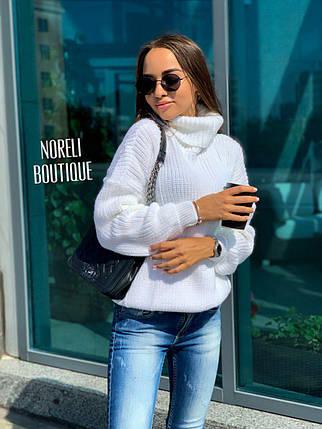 Свободный женский теплый свитер гольф под горло, фото 2