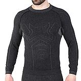 Мужская термокофта Hanna Style Haster Alpaca Wool 45% M-L Черный, фото 4
