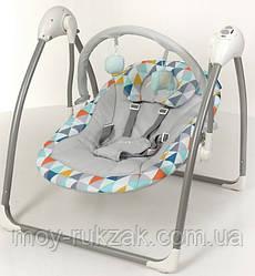 Детский шезлонг-качалка, музыкальный, дуга с подвесками, El Camino ME AIRY, TRIANGLE MULT, 70×63×63 см, ME1047