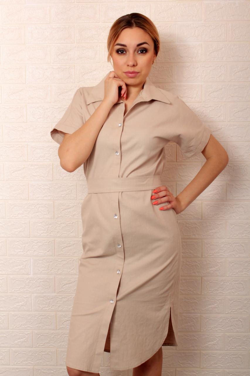 Женское стильное платье рубашка