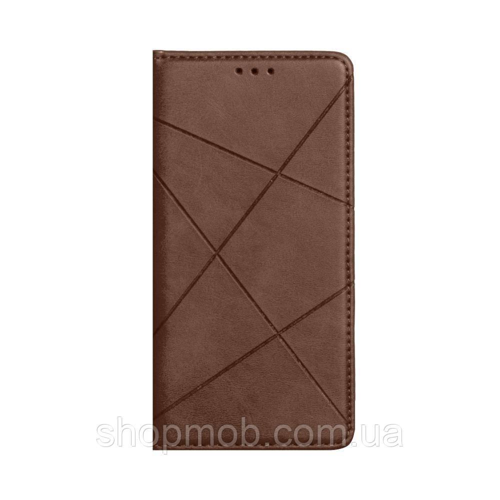 Чохол-книжка Business Leather for Samsung A21s Колір Коричневий