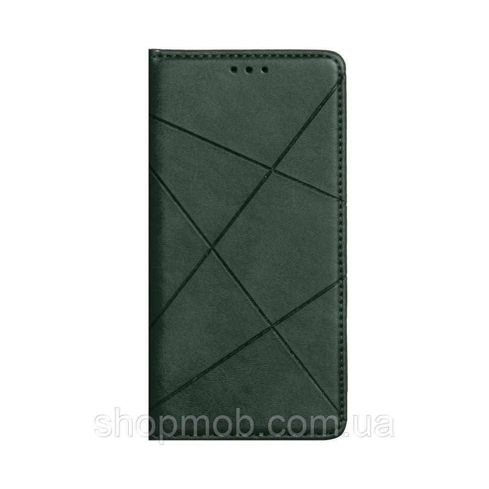 Чехол-книжка Business Leather for Samsung A41 Цвет Зелёный
