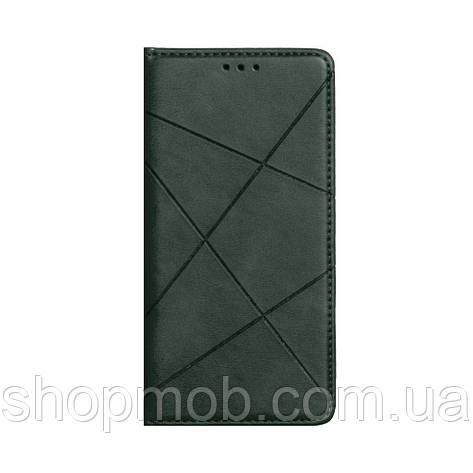 Чехол-книжка Business Leather for Samsung A41 Цвет Зелёный, фото 2