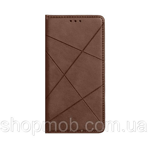 Чехол-книжка Business Leather for Xiaomi Redmi 9A Цвет Коричневый, фото 2