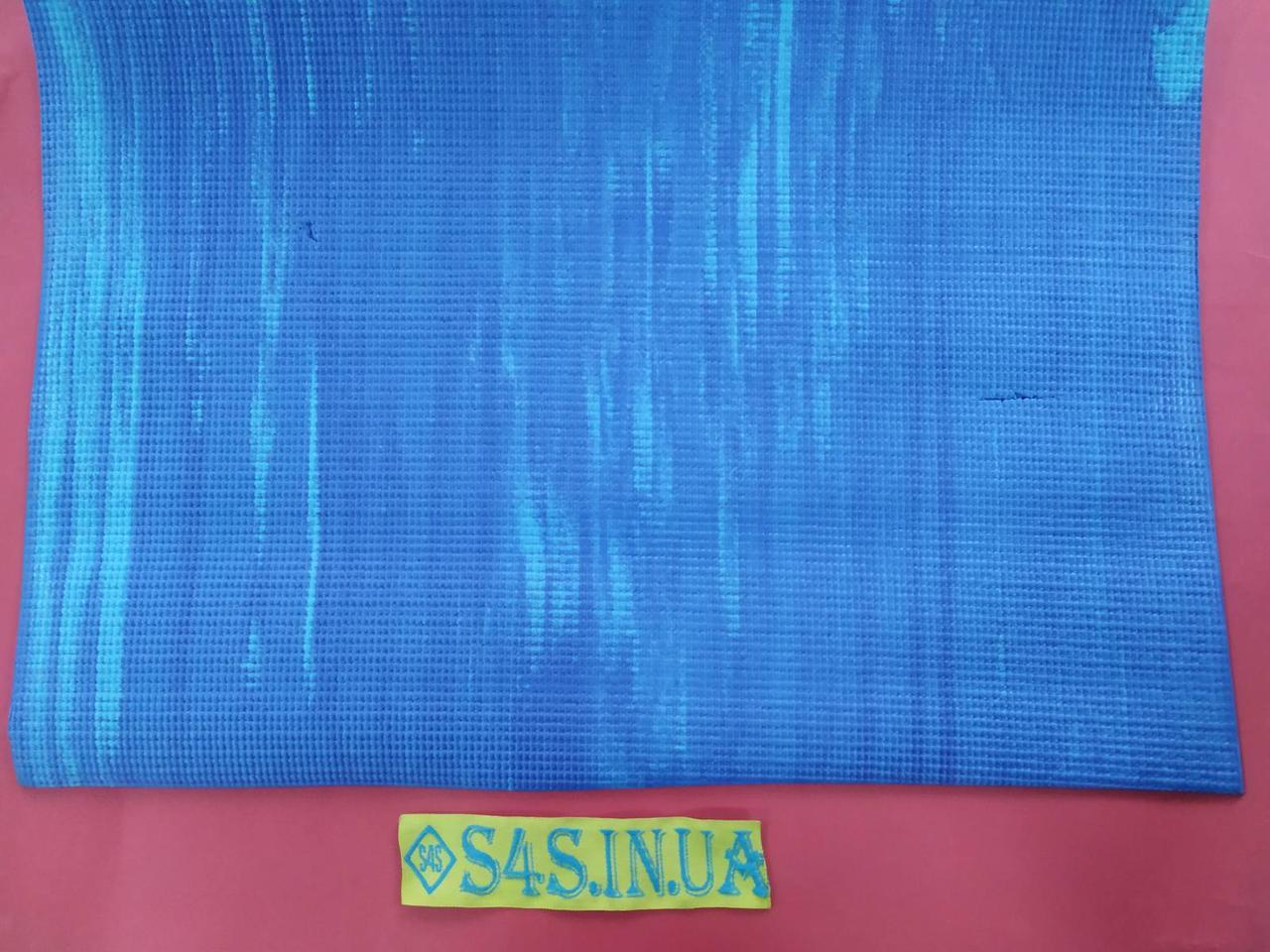 Килимок для фітнесу і йоги PVC 4мм SP-Planeta з принтом Смуга, кольори в асортименті