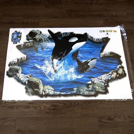 Інтер'єрна наклейка 3D Касатка 3D69006 90х60см, фото 2