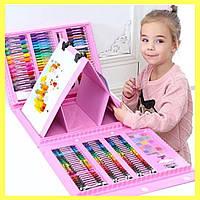 Набор для рисования для детей 208 предметов набор для творчества фломастеры мольберт краски карандаши