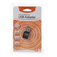 Wi-Fi адаптер с поддержкой 5 ГГц / 2.4 ГГц Alitek 600M CD driver Black 802.11b/n/g/ac + диск