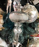 Новогодние елочные стеклянные игрушки Сосулька, 22см, фото 1