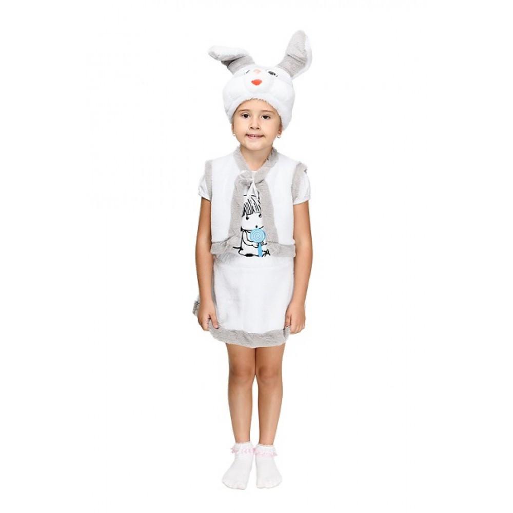 Детский маскарадный костюм Зайчика для девочки