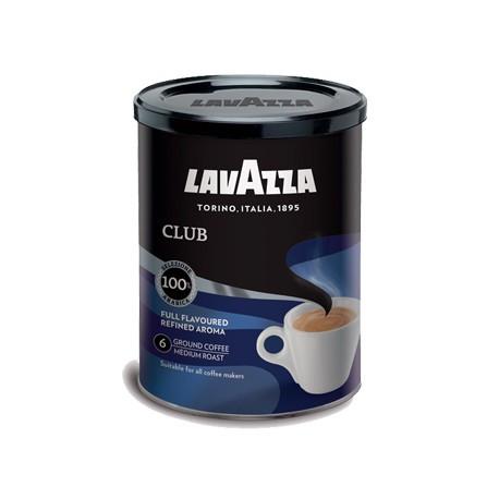Мелений італійську Каву Lavazza Club ж/б, 250г, елітна кава бленд з добірних сортів 100% арабіки