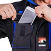Костюм робочий захисний утеплений SteelUZ 4S BLUE (Куртка+Напівкомбінезон) зріст 170 см, фото 8