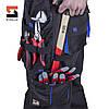 Костюм робочий захисний утеплений SteelUZ 4S BLUE (Куртка+Напівкомбінезон) зріст 170 см, фото 7