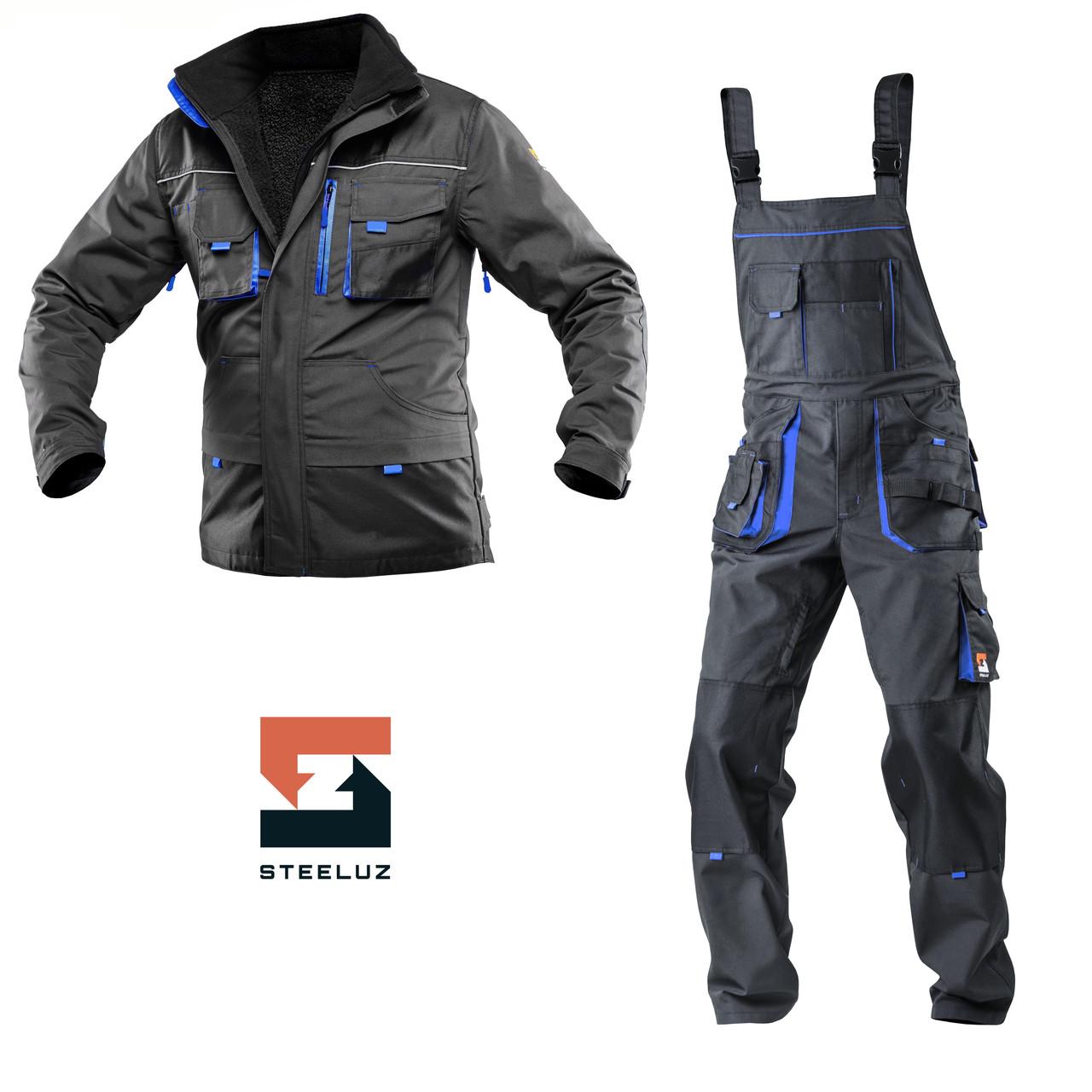 Костюм робочий захисний утеплений SteelUZ 4S BLUE (Куртка+Напівкомбінезон) зріст 170 см