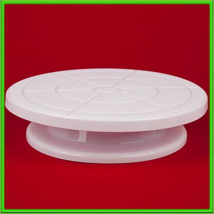 Стойка кондитерская пластмассовая для торта вращающаяся D28см высота 7см, фото 2