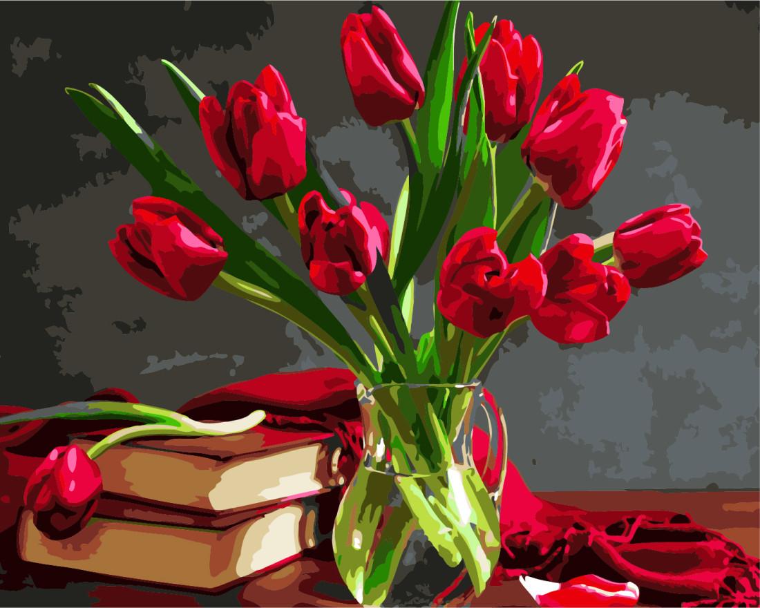 Картина по номерам Букет тюльпанов 40х50 Yarik's (без коробки)