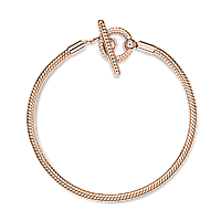 Серебряный браслет Pandora Moments с Т-замком Rose 589087C00, фото 1