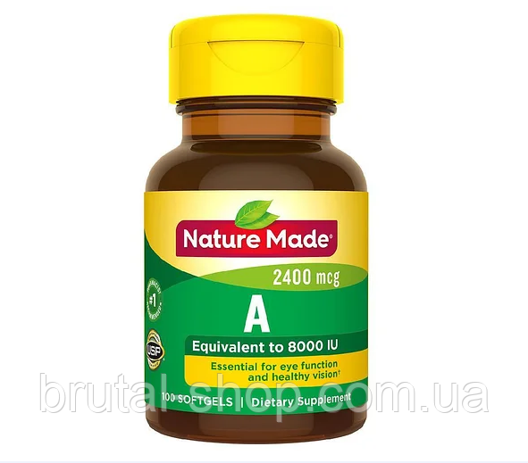 Nature Made Vitamin A 2400 mcg 100softgels