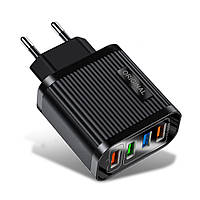 Зарядное устройство Alitek Original 4 Port USB: Quick Charge 3.0 + 3x3.1A Black