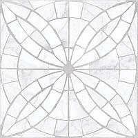 Плитка для пола Golden Tile Mosaic flower белый 30x30 8F0750
