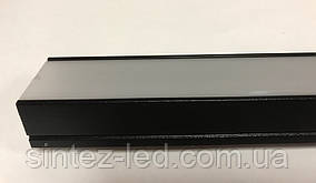 Черный накладной LED-профиль с матовым рассеивателем ЛП-20АВ (за 1м) Код.59785