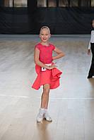 Шикарный турнирный комплект для бальных танцев (боди + 2 юбки)