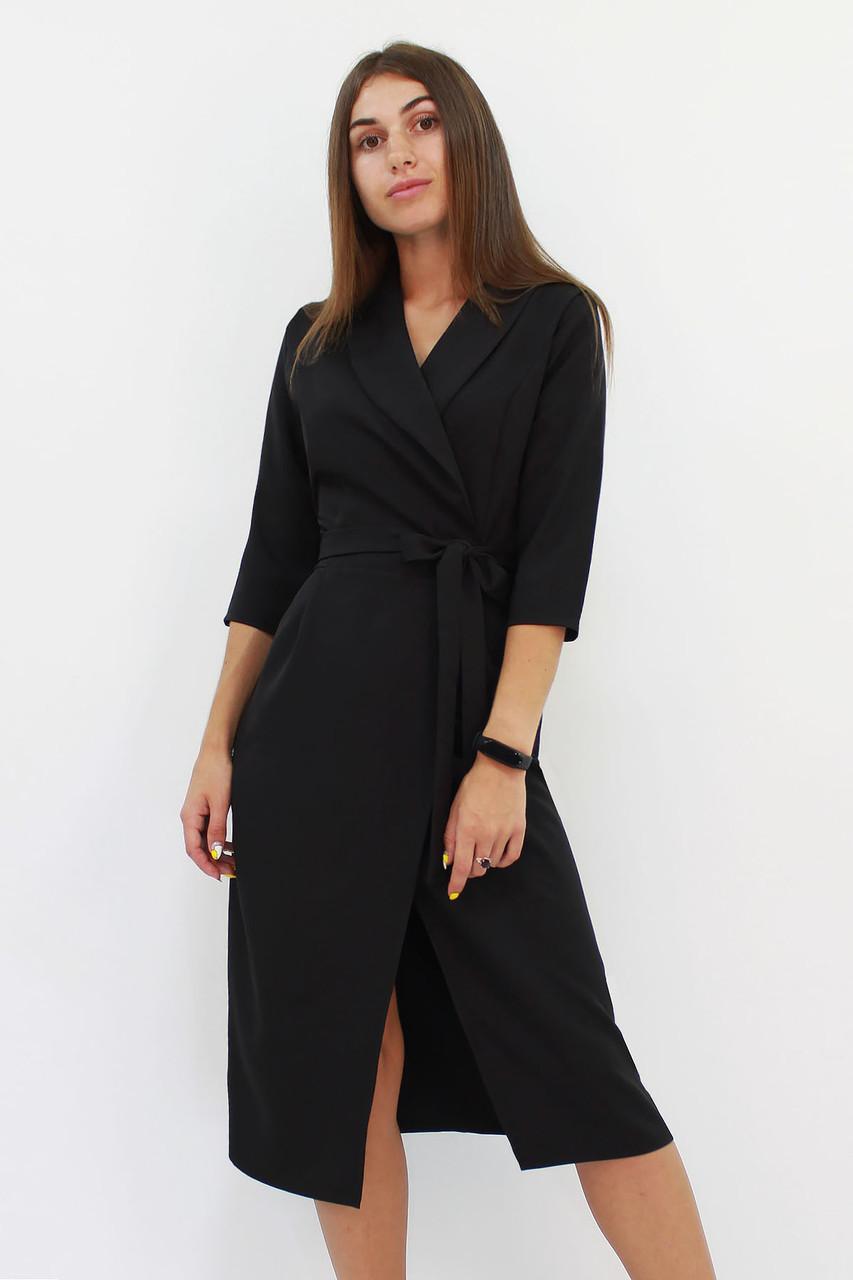 Вечернее платье на запах Barbara, черное
