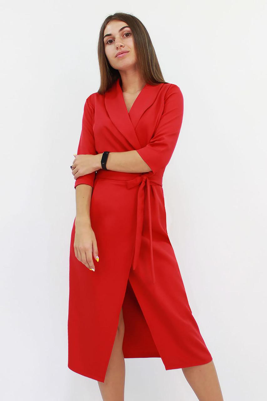 Вечернее платье на запах Barbara, красное