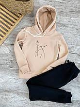 Женский костюм кенгуру бежевый