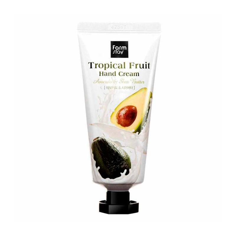 Питательный крем для рук Farmstay Tropical Fruit Hand Cream Avocado & Shea Butter, 50мл