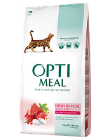 Optimeal (Оптимил) для кошек телятина 10 кг