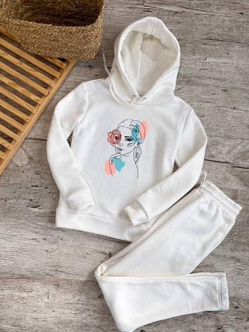 Женский костюм кенгуру белое худи, фото 2