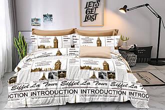 Полуторный комплект постельного белья «Лондонская газета» 147х217 из сатина