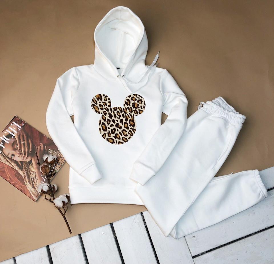 Женский костюм кенгуру белое худи